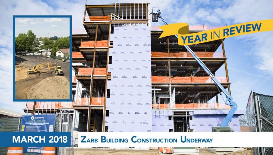 Zarb Building Construction Underway