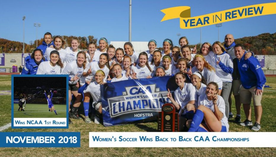 Women's Soccer Team Wins Back to Back CAA Championships/ Wins NCAA 1st Round
