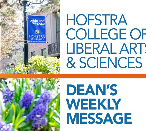 HCLAS Dean's Weekly Message