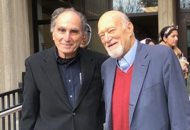 (L to r) Professors Martin Melkonian and Michael D'Innocenzo