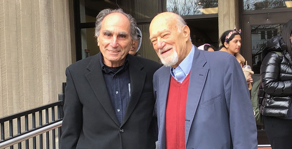 (L to r) Professors Martin Melkonian and Michael D'Innocenzo