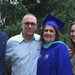 Graduate Maria Walsh '19 and her family