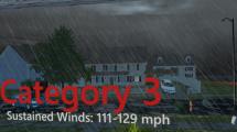 Virtual Reality Simulation of a Category 3 hurricane