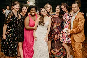 Emily Miethner- Hofstra Friends at Wedding