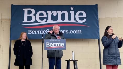 Bernie Sanders rally in New Hampshire, 2020