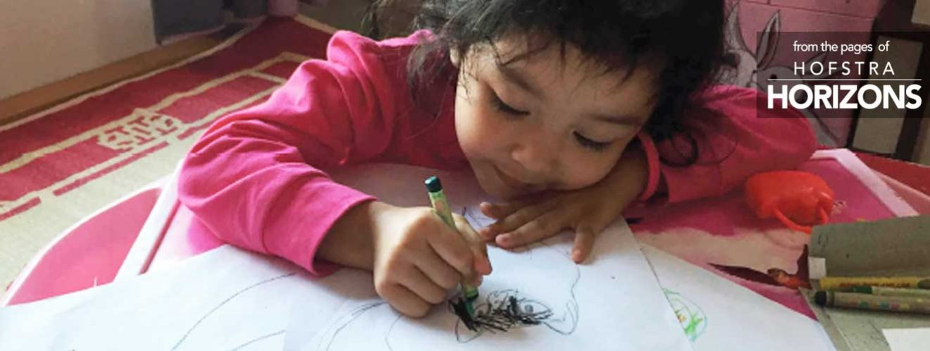 Child drawing - from the pages of Hofstra Horizons